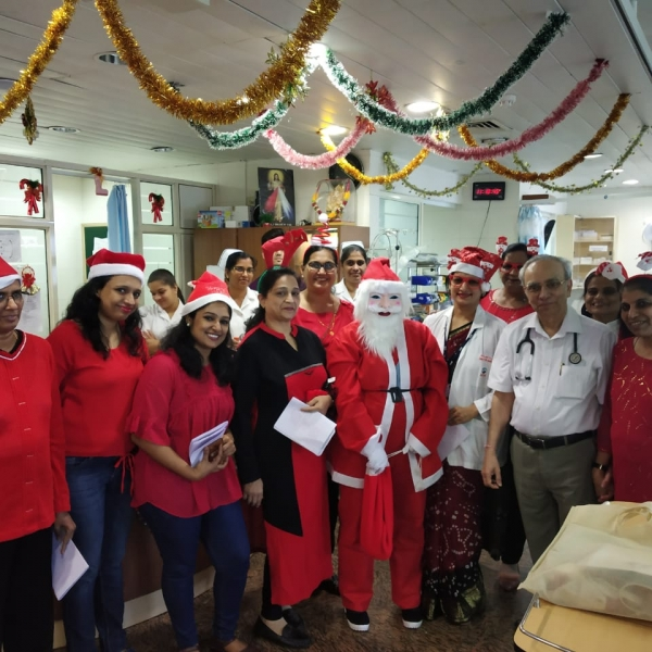 Carol Singing in Dialysis Department.